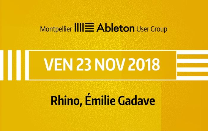 MAUG du 23 Novembre 2018 - Rhino, Émilie Gadave