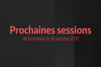 News #8 - Sessions de formation du 30 octobre 2017