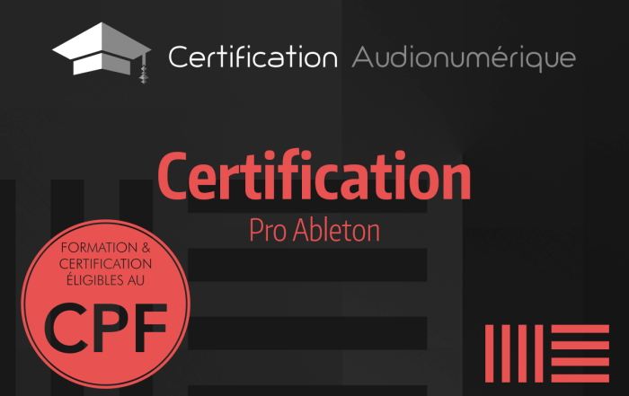 News - Certification Pro Ableton Live