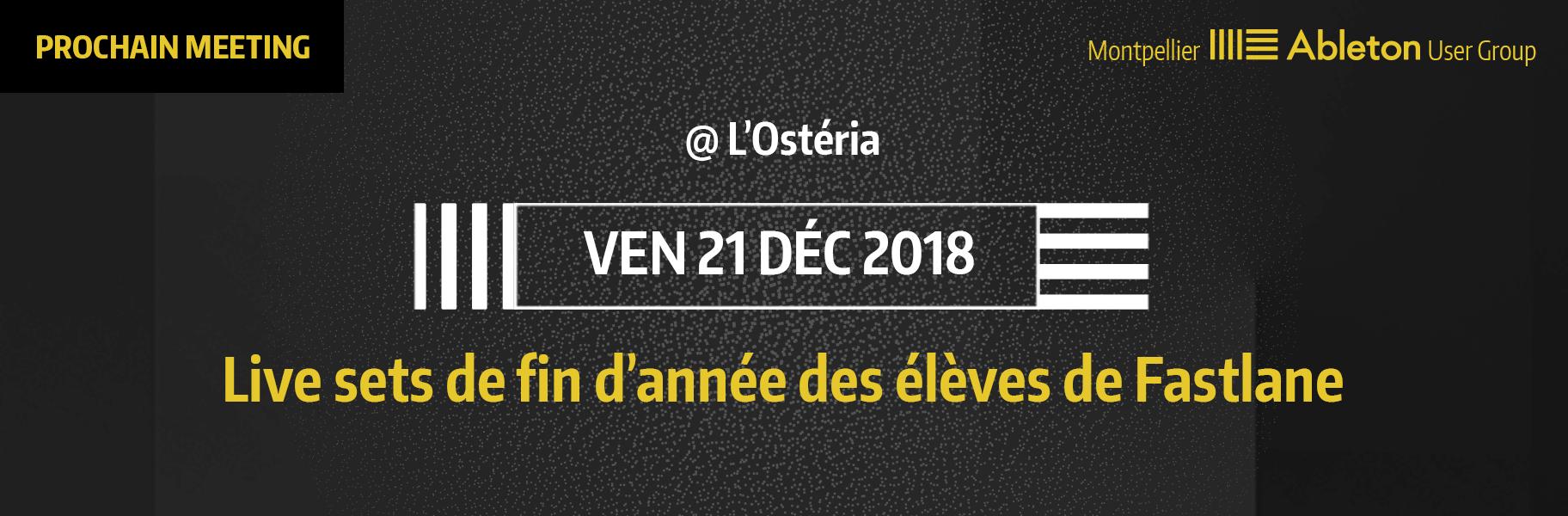 MAUG du 21 Décembre 2018 - Live sets de fin d'année des élèves de Fastlane