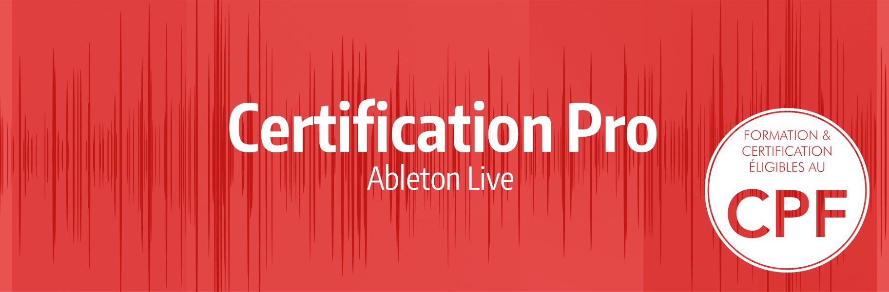 News - Certification Pro Ableton Live