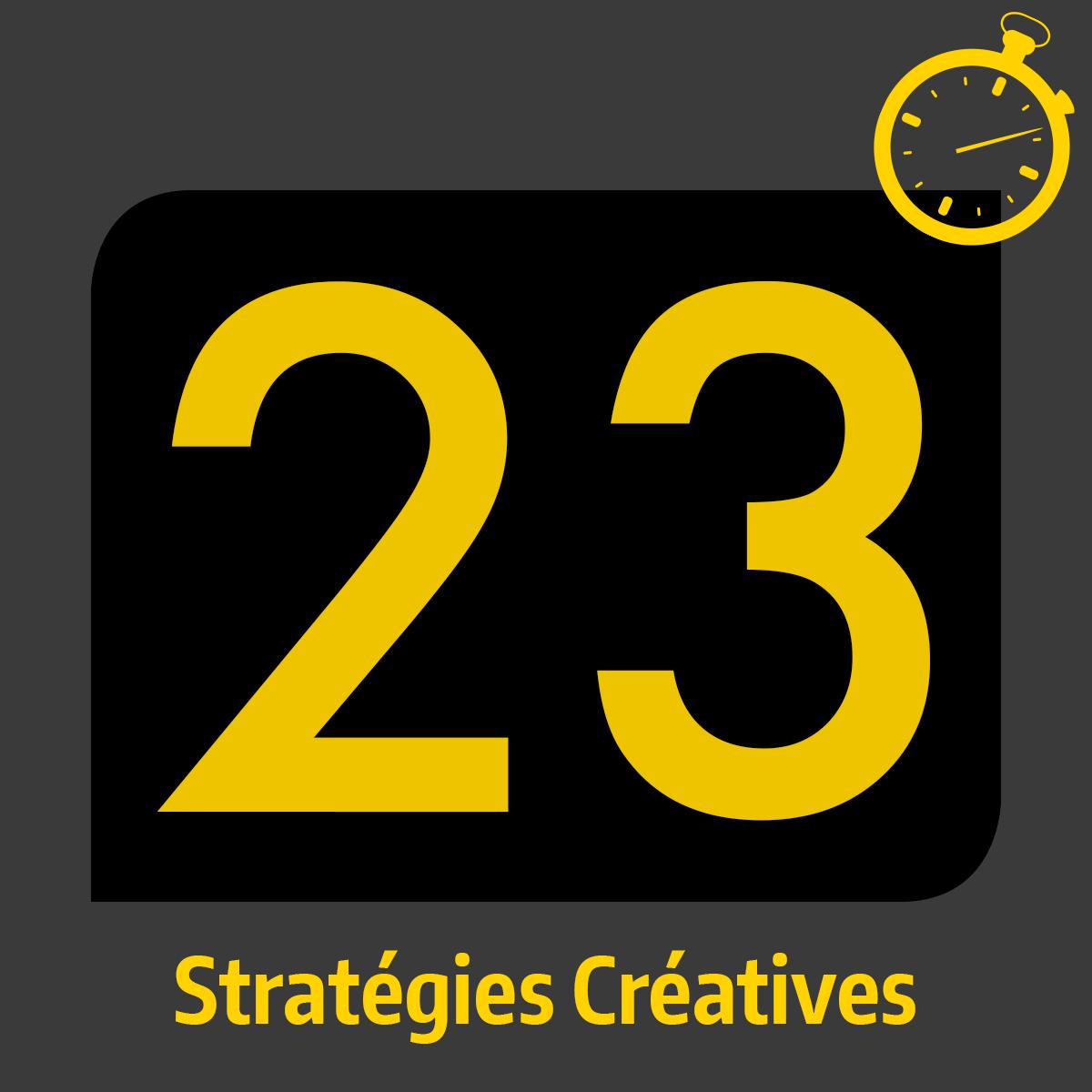 Formation accélérée - 23 Stratégies Créatives - Masterclass avec Crystal Distortion